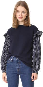 Clu Too Polka Dot Sleeve Sweatshirt