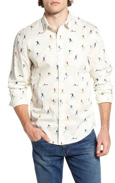 1901 Men's Baseball Print Poplin Shirt