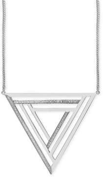 Effy Geo by Diamond Triangle Pendant Necklace (1/4 ct. t.w.) in Sterling Silver
