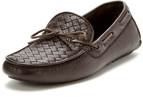 Bottega Veneta Men's Leather Intrecciato Driver Shoe