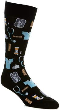 Hot Sox Medical Motif Crew Socks