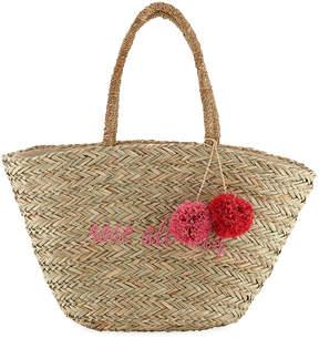 Hat Attack Seagrass Woven Tote Bag