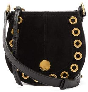See by Chloe Kriss Mini Suede & Leather Cross Body Bag - Womens - Black