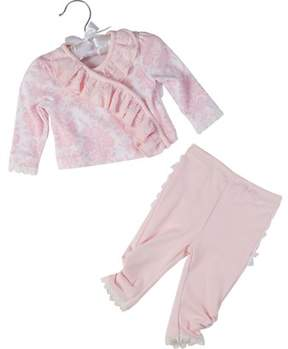 Laura Ashley Girls' 2pc Shirt And Pants Set.