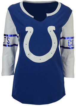 5th & Ocean Women's Indianapolis Colts V-Notch Long Sleeve T-Shirt