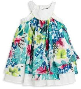 Catimini Little Girl's & Girl's Tropical-Printed Dress