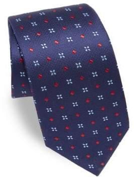 Eton Embroidered Textured Silk Tie