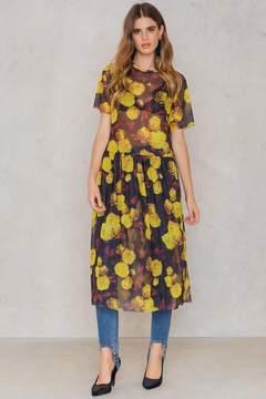 NA-KD Na Kd Floral Mesh Dress