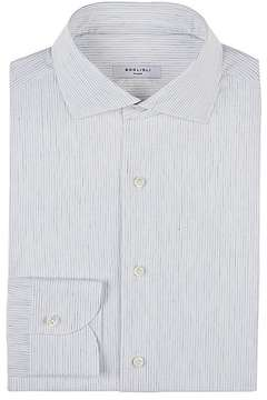 Boglioli Men's Pinstriped Cotton Poplin Shirt