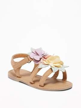 Old Navy Flower-Applique Sandals for Toddler Girls
