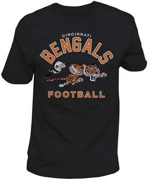 Authentic Nfl Apparel Men's Cincinnati Bengals Midfield Retro T-Shirt