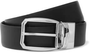 Ermenegildo Zegna 3.5cm Black Reversible Leather Belt