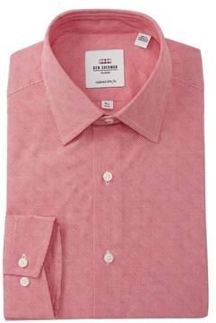 Ben Sherman Micro Dobby Gingham Tailored Slim Fit Dress Shirt