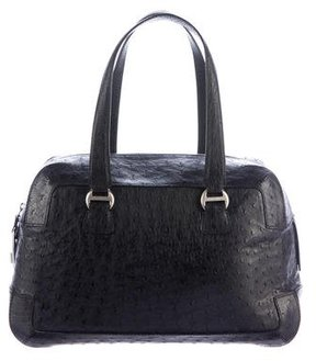 Giorgio Armani Ostrich Shoulder Bag