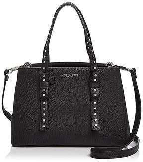 Marc Jacobs Mini T Leather Satchel - BLACK/SILVER - STYLE