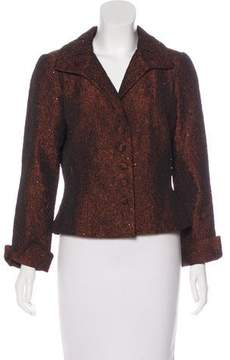 Carmen Marc Valvo Embellished Textured Blazer