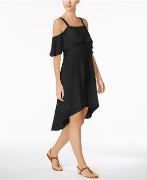 ECI Cold-Shoulder High-Low Dress