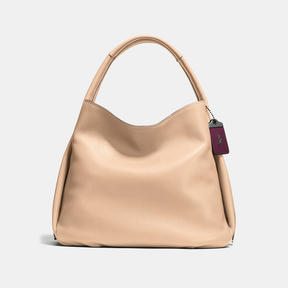 COACH BANDIT HOBO 39 IN NATURAL PEBBLE LEATHER - BLACK COPPER/BEECHWOOD