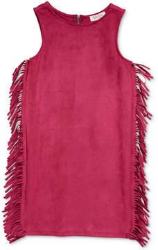 Jessica Simpson Tera Suede Fringe Dress, Big Girls (7-16)