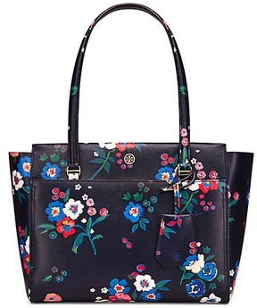 Tory Burch Parker Floral Small Tote - PANSY BOUQUET - STYLE