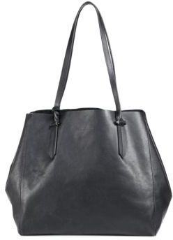 KENDALL + KYLIE Izzy Unlined Metallic Leather Tote
