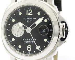 Panerai Luminor PAM00156 Stainless Steel / Leather Automatic 44mm Automatic Mens Watch