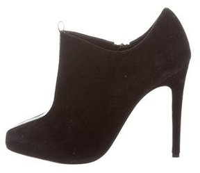 Jerome C. Rousseau Suede Square-Toe Ankle Boots