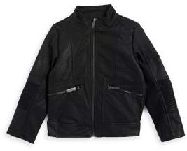 Urban Republic Boy's Rib-Panel Moto Jacket