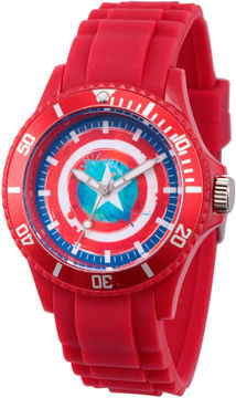 Marvel Classic Mens Red Strap Watch-Wma000066
