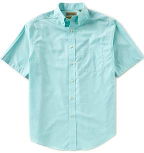 Roundtree & Yorke Gold Label Short-Sleeve Solid Heather Non-Iron Sportshirt