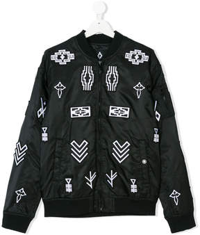 Marcelo Burlon County of Milan Kids symbols print bomber jacket