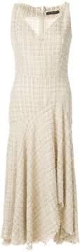 Alexander McQueen lurex detail asymmetric dress