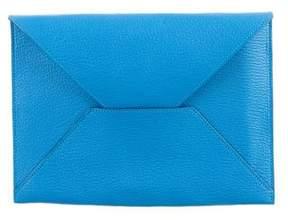 Hermes Chevre Mysore Envelope Pouch - BLUE - STYLE