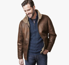 Johnston & Murphy Faux-Shearling Aviator