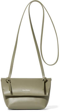Acne Studios Crossbody Mini Leather Shoulder Bag - Army green