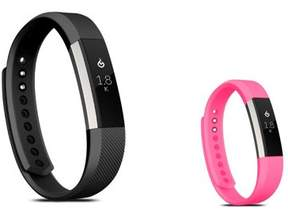 Fitbit Alta HR and Alta Replacement Bands SMALL Size 2 PCS BUNDLE SET, by Zodaca Soft TPU Rubber Adjustable Wristbands Watch Band Strap For Alta HR / Alta SMALL Size - Black + Hot Pink