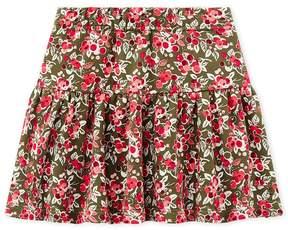 Petit Bateau Girl's print fleece skirt