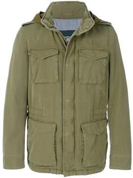 Herno Men's Green Polyester Coat.