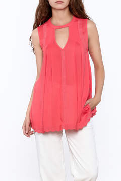 Blu Pepper Coral Sleeveless Top