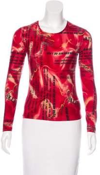 Cacharel Printed Long Sleeve Top