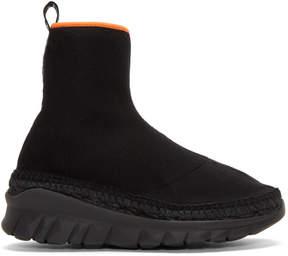 Kenzo Black K-Lastic High-Top Sneakers