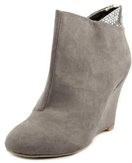 Thalia Sodi Lidiaa Women Open Toe Synthetic Gray Wedge Heel.