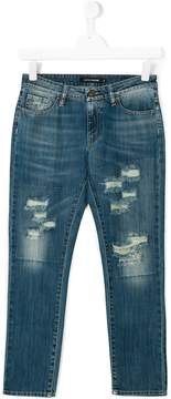 European Culture Kids distressed denim jeans