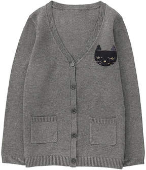 Gymboree Charcoal Cat Cardigan - Toddler & Girls