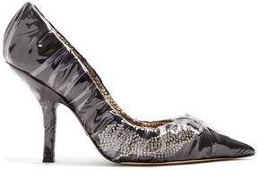 Cesare Paciotti BY MIDNIGHT Crystal embellished ruched satin pump