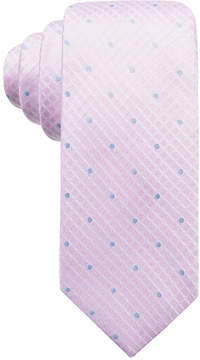 Ryan Seacrest Distinction Men's Capri Tonal Dot Grid Silk Slim Tie, Created for Macy's