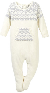 Cuddl Duds Fair Isle Footed Coverall (Baby Boys)