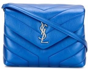 Saint Laurent Women's Blue Leather Shoulder Bag. - BLUE - STYLE