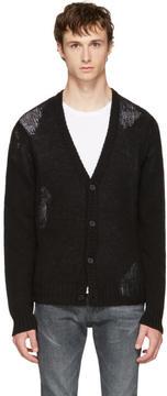Maison Margiela Black Wool Cardigan