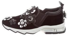 Fendi Velvet Floral Sneakers